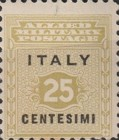 """[Allied Military Postage Overprinted """"ITALY"""" and Value, type A1]"""