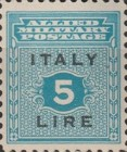 """[Allied Military Postage Overprinted """"ITALY"""" and Value, type A7]"""