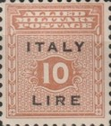 """[Allied Military Postage Overprinted """"ITALY"""" and Value, type A8]"""