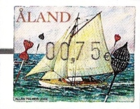 [Franking Label - Sail Ships, Typ T]