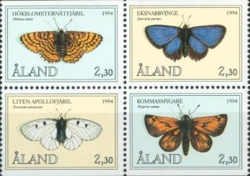 [Butterflies - The 10th Anniversary of Aaland Stamps, type ]