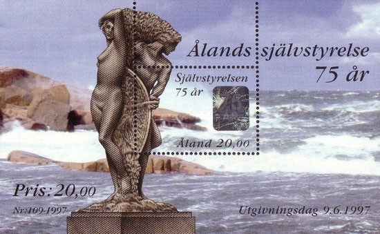 [The 75th Anniversary of the Independence of Aaland, type ]