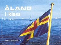 [The 50th Anniversary of the Aaland Flag. Self-Adhesive Stamp, type HT]
