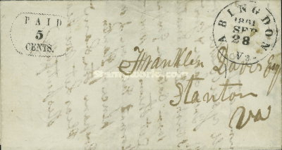 [Handstamped Envelopes, type A1]