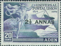 [the 75th Anniversary of the Universal Postal Union, Typ L]