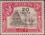 [No. 18 and 20-28 Overprinted New Values in Red or Black, Typ M3]