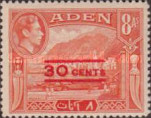 [No. 18 and 20-28 Overprinted New Values in Red or Black, Typ M4]