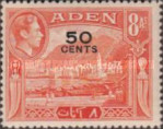 [No. 18 and 20-28 Overprinted New Values in Red or Black, Typ M5]