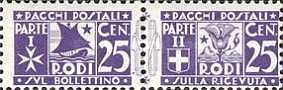 [Parcel Post Stamps, Typ A3]
