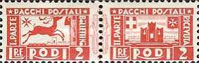 [Parcel Post Stamps, Typ B1]