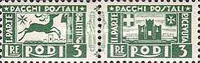 [Parcel Post Stamps, Typ B2]