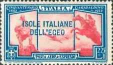 [Express Airmail - Italian Stamps No 375-376 in Different Colors Overprinted