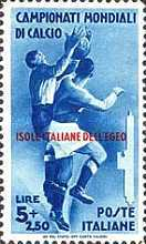 [Italian Stamps of 1934 in Different Colors Overprinted