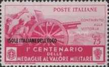 [Italian Postage Stamps in Different Colors Overprinted