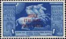 [Airmail - Italian Stamps No. 550-554 in Different Colors Overprinted