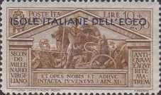 """[Italian Stamps No 316-324 in Different Colors Overprinted """"ISOLE ITALIANE DELL'EGEO"""", tyyppi R]"""