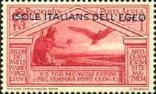 [Airmail - Italian Stamps No 325-328 in Different Colors Overprinted