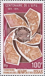 [The 100th Anniversary of the Universal Postal Union, type BD]
