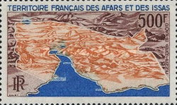 [Airmail - Map of Afars and Issas, type XD]