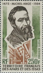 [Airmail - The 500th Anniversary of the Birth of Michelangelo Buonarroti, type YAE]