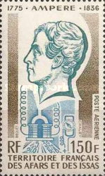 [Airmail - The 200th Anniversary of the Birth of André Marie Ampere, type YAF]