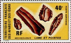 [Airmail - Archaeology - Stone Age Tools, type YV]