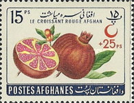 [Fruits - Afghan Red Crescent Society - No. 579-583 Surcharged, type HU4]