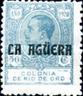 [King Alfonso XIII of Spain - Not Issued Rio de Oro Postage Stamps Overprinted