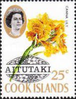 [Cook Island Postage Stamps Overprinted, type AR]