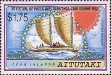 [The 6th Anniversary of the Festival of Pacific Arts, Rarotonga - Sailing Canoes, type PL]