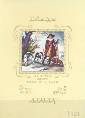 [Airmail - European Paintings - Hunting Dogs, Typ ]