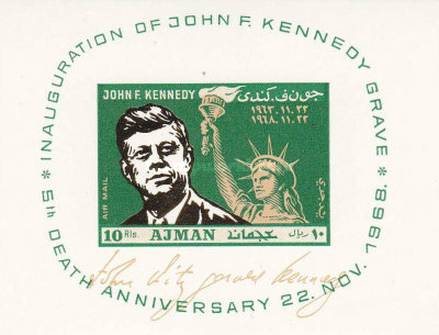[Airmail - The 5th Anniversary of the Death of John F. Kennedy, 1917-1963, Typ ]