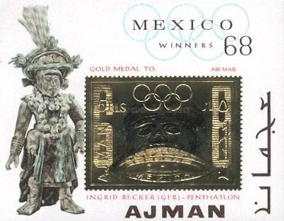 [Olympic Games - Mexico '68 Gold medal Winners. Overprint of 1968 Issue, type ]