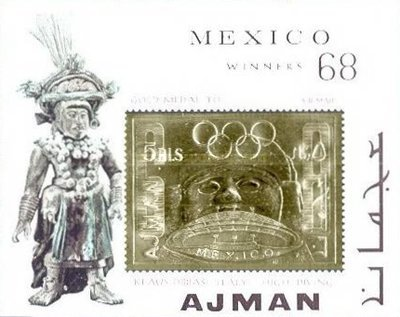 [Olympic Games - Mexico '68 Gold medal Winners. Overprint of 1968 Issue, Typ ]