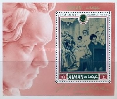 [Airmail - The 200th Anniversary of the Birth of Ludwig van Beethoven, 1770-1827, Typ ]