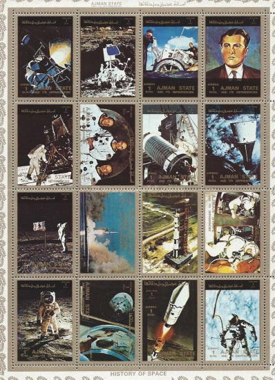 [Airmail - Space Flight Achievements of the United States of America, type ]