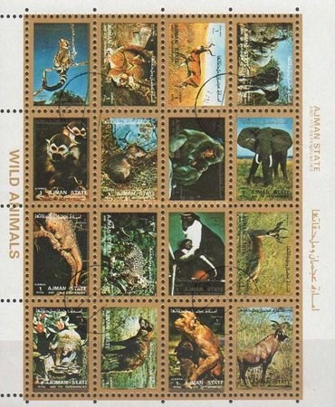 [Airmail - Mammals - Small size, type ]