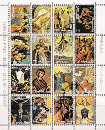[Airmail - Religious Paintings - Small Size, type ]