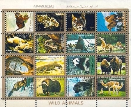 [Airmail - Animals - Small Size, Typ ]