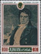 [The 200th Anniversary of the Birth of Ludwig van Beethoven, 1770-1827, Typ ADQ]