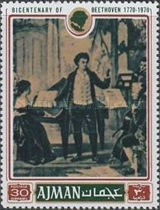 [The 200th Anniversary of the Birth of Ludwig van Beethoven, 1770-1827, Typ ADR]