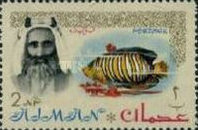 [Sheik Rashid bin Humaid al Naimi Pictured with Different Animals - Size: 35 x 22 mm, type B]