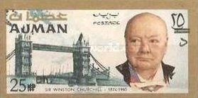 [Winston Churchill - Overprinted with New Currency, Typ BT3]