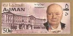 [Winston Churchill - Overprinted with New Currency, Typ BU3]