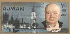 [Winston Churchill - Overprinted with New Currency, Typ CA4]