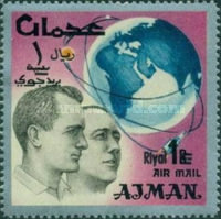 [Airmail - Space Achievements - Overprinted with New Currency, type CI1]