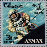 [Airmail - Space Achievements - Overprinted with New Currency, type CJ3]