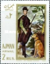 [Airmail - European Paintings - Hunting Dogs, Typ IX]