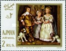 [Airmail - European Paintings - Hunting Dogs, Typ IZ]