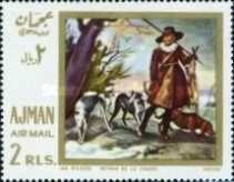[Airmail - European Paintings - Hunting Dogs, Typ JA]